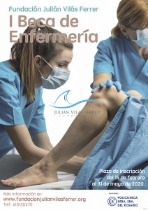 Cartel I beca enfermería 2020