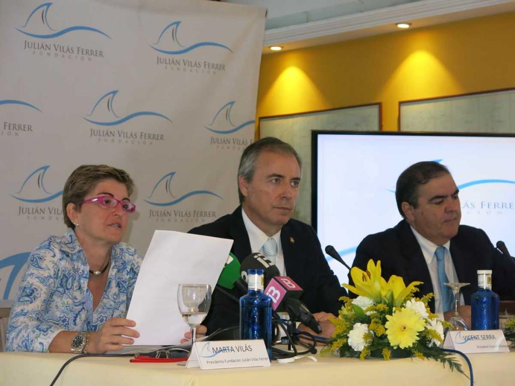 Marta Vilás, Vicent Serra y Joan Marí